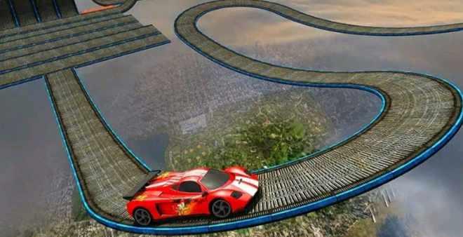 असंभव कार ट्रैक स्टंट 3 डी